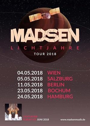 Madsen Lichtjahre Tour Poster